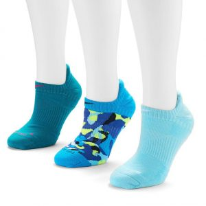 Aqua accents for your shoes. Nike(R) Dri-FIT(TM) 3-pk from Kohl's. Reg. $18.00 and totally worth it.