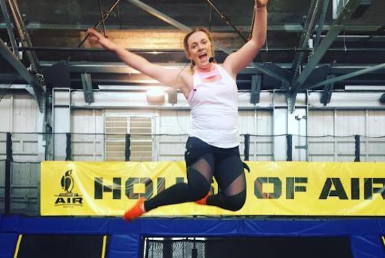 Aerobic trampoline instructor